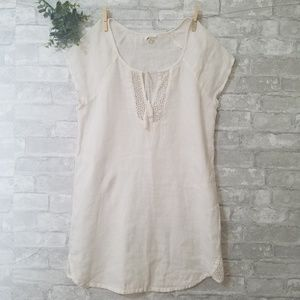 Soft Joie white tunic dress